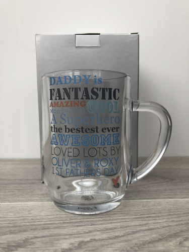 Personalised He is... Glass Tankard